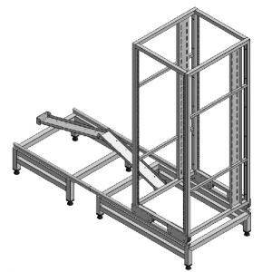 Custom Equipment Rack with Telescopic Extension from Wall